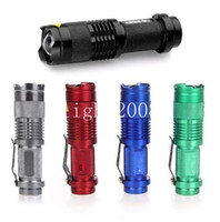 5 Couleurs Flash Light 7W 300LM CREE Q5 LED Camping Flashlight Torche réglable Zoom Zoom lampe de poche imperméable lampe
