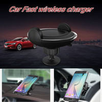 Wholesale Wireless Charger Double - 2017 Car Wireless Charger With Air Vent Type Or Double Sticker Base For Samsung Galaxy S7 S7 Edge   S6   S6 Edge, Iphone Smart Phones