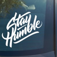 ingrosso adesivi per camion-Stay Humble Decalcomania del vinile Adesivo Funny Car Truck JDM racing illest stance