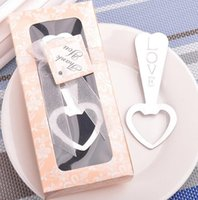 Wholesale Wine Opener Gift Box - LOVE heart shaped beer bottle opener Wedding Favor Gift Creative gifts Key Wine Opener Gift box packaging