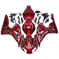 Wholesale Motorcycle Cover Plastic - Plastic Fairings For Honda CBR1000RR 06 07 CBR1000 RR 2006 2007 Injection ABS Motorcycle Fairing Kit Bodywork Cover Cowling Red Silver Flame