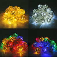 Led Straw Rattan Ball Lichterketten Hochzeit Weihnachten Home Decor Ornament LED Dekorative Lichterketten Blume Handwerk Bälle