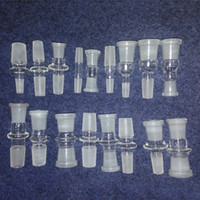 Wholesale 10 style Glass Bong Pipe Adapter mm mm mm Glass Adapter Joint Glass female male mm mm mm Glass Adaptor