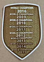 Wholesale Hot Badge - champions 2017 2016 2015 2014 2013 2012 2011 2010 2009 patch football Print patches badges,Soccer Hot stamping Patch Badges
