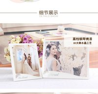Wholesale Wholesale Piano Crystal - 10 and 12 inch diamante embroidered photo frame wooden piano paint printed eco - friendly material with Korean crystal polishing technology
