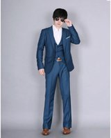 Wholesale Hot Mens Suit Dress - Sell like hot cakes! Mens Fashion Dress Casual Business One Botton Slim fit Suits Jacket Plus Pants