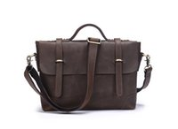 1314 Crazy Horse Leather Men Shoulder Bag Messenger Bag Brand New Luxury Genuine Leather Cross Body Bag Business Casual Brown