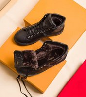 Wholesale Flats Fur Inside - Luxury High Top Snow Shoes With Wool Inside Keep Warm Mens Winter Boots Man Cow Leather Ankle Outdoor Sneakers Size 38-45
