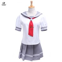 Wholesale Sunshine Dress - Wholesale-New LoveLive! Sunshine!! Aqours Takami Chika Sailor Costume School Uniform Dress Anime Cosplay Costume For women GC155