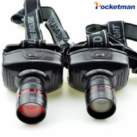 Wholesale Moving Led Cree - led headlamp headlight flashlight High Power Waterproof Cree Zoom Lamps Camping Hunting Bike Bicycle Moving