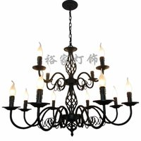 25 30sqm vde 25 inch u0026 above luxury rustic wrought iron chandelier e14 candle black vintage antique home chandeliers for living room european lamp zg8042