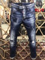 3081ed4f224 2017 New Style Hommes Denim Jean Broderie Pantalon Trous Jeans Bouton  Pantalon Mixte Ordre! Nouveau modèle