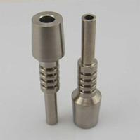 puntas de uñas envío rápido al por mayor-En stock ! Néctar Colector de titanio de 18 mm de uñas invertidas Grado 2 punta de titanio, envío rápido