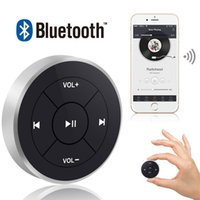 Wholesale Bike Handlebar Button - Hot Wireless Remote Control Bluetooth Media Button Car Steering Wheel Motorcycle Bike Handlebar for IOS for Android