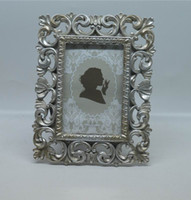 """Wholesale Resin Photo Frame Picture - 4x6"""" and 5x7"""" Kate Vintage distressed Picture Frames Rectangle Creative Resin Photo Frame with Classic Hollow up Around Edging Design"""