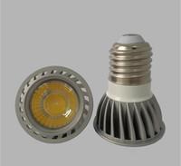 светодиодный индикатор mr16 12v 3w оптовых-Оптовая цена горячей продажи с регулируемой яркостью GU10 E27 MR16 COB Светодиодный прожектор Теплый Холодный Белый AC85-265V 3W COB Светодиодные лампы в помещении светодиодный прожектор