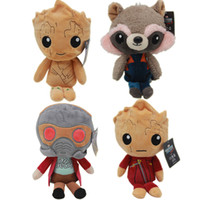 Wholesale Galaxies Video - Guardians of the Galaxy Plush Dolls Guardians of the Galaxy Plush Toys Stuffed Kids Toys Christmas Gift for Kids OTH565