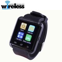 Wholesale Android Smartphone 4s - 2016 Bluetooth Smartwatch U8 U Watch Smart Watch Wrist Watches for iPhone 4 4S 5 5S Samsung S4 S5 Note 2 Note 3 HTC Android Phone Smartphone