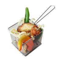 Wholesale french fry basket - Deep Fried Filter Basket Stainless Steel Food Grade Mini French Fries Snack Baskets Kitchen Tool Safety Hygiene 14dh F R