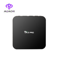 Wholesale Android Quad Band Wifi - 10PCS MEMOBOX TX5 Pro TV Box Amlogic S905X Android 6.0 2G 16G DLNA Miracast Quad Core 4K Dual Band WiFi Bluetooth 4.0 Set-top Box