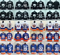 Wholesale John Tavares Jersey - New York Islanders Hockey Jerseys Ice 91 John Tavares 2 Nick Leddy 17 Matt Martin 21 Kyle Okposo 41 Jaroslav Halak 55 Johnny Boychuk Blue