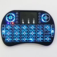 Wholesale fly notebook - Lithium battery version--Fly Air Mouse I8 backlight 2.4G Wireless Keyboard Remote Controlers touchpad for PC Notebook Android TV Box