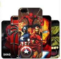 Wholesale batman cover - Marvel Avengers Superman Soft PC Case Batman Dark Knight Spider Ironman Captain America Shield Cover For iphone 7 plus 6 6s SE 5s 5