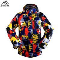 Wholesale Winter Snowboard Coat Men - Wholesale-Men`s Skiing Jacket 2016Brand Waterproof Thicken Warm Winter Snow Coats For Outdoor Sport Ski Snowboard Jacket Windproof Clothes