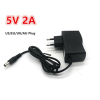 Wholesale Dc 5v Power Supplies - High quality AC 100V-240V Converter Switching power adapter DC 5V 2A 2000mA Supply US UK EU AU Plug
