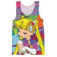 d4c4ef66346889 Wholesale- Cartoon Tank Tops 3d Print Anime Sailor Moon Character Graphic  Clothing Fashion Sleeveless Harajuku Style O-neck Undershirt