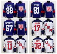 parise usa hockey jersey großhandel-Weltmeisterschaft 2016 Team USA Eishockey Trikots US 11 Zach Parise 88 Patrick Kane 81 Phil Kessel 32 Jonathan Schnell 67 Max Pacioretty 17 Ryan Kesler