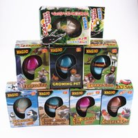 Wholesale Egg Easter Box - Easter Egg dinosaur eggs Christmas gift Growing pet Hatchimals egg variety of animals eggs can hatch out animals creative toys w  gift box