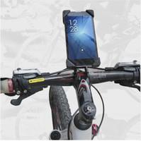 telefonclip für fahrrad großhandel-Heißer verkauf Fahrrad Zubehör Lenker Clip Halterung Handy Fahrrad Halter Ständer Für iPhone 4 4 S 5 5 s 6 6 s plus Samsung Fall