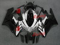 kits de corpo honda fit venda por atacado-NOVO 2014 decalques brancos INJEÇÃO Fairing Body Kit Set Fit CBR1000RR Honda 2004-2005 R08.