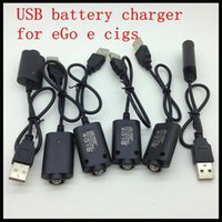 Wholesale Ego Lcd Twist - USB battery charger for eGo e cigs, Electronic Cigarette eGo USB Chargers, ego-c ego-w ego-t LCD passthrough e c twist batteries charger
