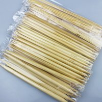 "Wholesale Needle Point Kits - 11 Sizes 8"" 20Cm 5pcs Size 13cm Double Pointed Carbonized Bamboo Needle Weaving Knitting Knit Kit Domestic tool sets 2.0mm-5.0mm"