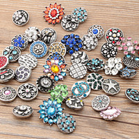 Wholesale Beads Rhinestone Buttons - Mix styles noosa Interchangeable Snap Buttons DIY Jewelry Accessory Ginger Snap Jewelry