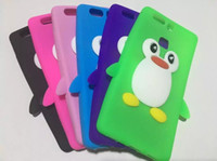 Wholesale Iphone Silicone Penguin Case - 3D Penguin Soft Silicone Case For Iphone 6 6S 7 Plus Samsung Galaxy 2017 A3 A5 S7 EDGE Huawei Ascend P9 Lite NOVA Cartoon Rubber Skin Cover