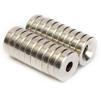 Wholesale Disc Magnet Hole - 20pcs N50 12x3mm Strong Countersunk Ring Magnets 4mm Hole Rare Earth Neodymium