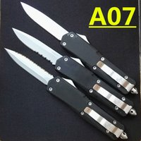 Wholesale Wholesales Knives - microtech Troodon A07 3 models optional white blade Hunting Folding Pocket Knife Survival Knife Xmas gift for men 4pcs freeshipping