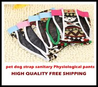 Wholesale Pet Sanitary Pants - 20pcs Free shipping pet dog strap sanitary Physiological pants dog diapers Trousers