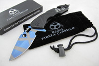 Wholesale Steel Wheel Pc - Hot Wheels Tactical knife (blue tiger Edition ) 57HRC Camping hunting wild gift knife free shipping 1 pcs