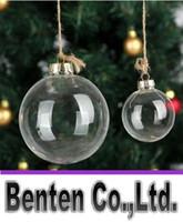 "Wholesale Wholesale Glass Baubles - Wedding Bauble Ornaments Christmas Xmas Glass Balls Decoration Christmas Balls Clear Glass Wedding balls 3""   80mm Christmas Ornaments LLFA"