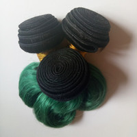 Wholesale Indian Remy Virgin Body Wave - Short Bob Style Full Cuticle Unprocessed Brazilian Virgin Hair Body Wave 8inch beauty sexy anty curly hair Indian remy Hair Omber 1B green