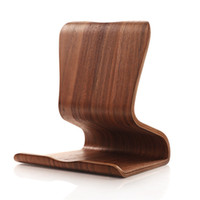 Wholesale tablet tab2 online - New SAMDI Real Wooden Mobile Tablets Stand Holder for iPad Air For Galaxy Tab Note Tab2 Two Colors