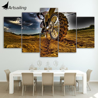 Wholesale Cars Ny - HD Printed Motocross car Painting Canvas Print room decor print poster picture canvas Free shipping NY-5907