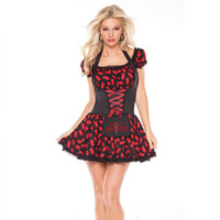 Wholesale Women Maid Lingerie - Hot Sale New Women Sexy Adult Role-playing Maid Costumes Patchwork Lace Lingerie Obsessive Housemaid Costume Fancy Dress W408474