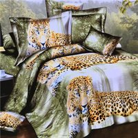 Wholesale Leopard Print Bedding Cheap - Bed Cover Home All Real 1 Set(4 Pieces) 2016 Hot Sale Cheap 3d Reactive Animals Lying Leopard Printed 4 Pieces Full Size Duvet Sets Bedding