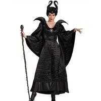Wholesale Women Sleeping Beauty Costume - Halloween Sleeping Spell Black Witch Game Cosplay Costume Queen Cosplay Costume