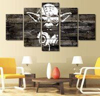 cartoon sexy pictures - 5 Panel HD Printed yoda star wars Painting Canvas Print room decor print poster picture canvas sexy painting